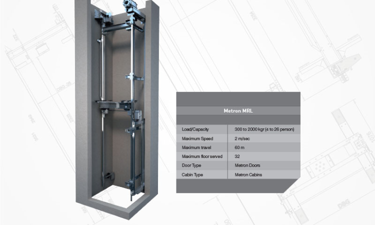 Traction Machine Roomless Elevators - MRL